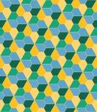 Vector modern seamless colorful geometry pattern, flowers pentagon Stock Photo