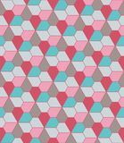 Vector modern seamless colorful geometry pattern, flowers pentagon Stock Images