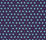 Vector modern seamless colorful geometry pattern, flowers pentagon Stock Photography