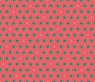 Vector modern seamless colorful geometry pattern, flowers pentagon Stock Photos