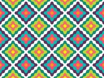 Vector modern seamless colorful geometry pattern fresh Royalty Free Stock Photo