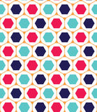 Vector modern seamless colorful geometry pattern, hexagon Royalty Free Stock Photos
