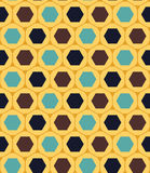 Vector modern seamless colorful geometry pattern, hexagon, color yellow blue, abstract Stock Photography