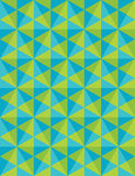 Vector modern seamless colorful geometry pattern, mosaic, color green blue abstract. Geometric background, trendy multicolored print, retro texture, hipster Stock Photography