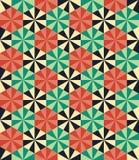Vector modern seamless colorful geometry pattern, mosaic flowers Stock Photo