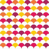 Vector modern seamless colorful geometry pattern overlapping circles Royalty Free Stock Photos