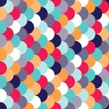 Vector modern seamless colorful geometry pattern overlapping circles Stock Image