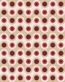 Vector modern seamless colorful geometry pattern overlapping circles Royalty Free Stock Image