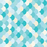 Vector modern seamless colorful geometry pattern overlapping circles Royalty Free Stock Images