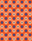 Vector modern seamless colorful geometry pattern overlapping circles Royalty Free Stock Photo