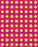 Vector modern seamless colorful geometry pattern overlapping circles Stock Photography