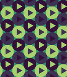 Vector modern seamless colorful geometry pattern triangle polygon, color blue green abstract Royalty Free Stock Images