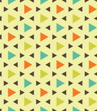 Vector modern seamless colorful geometry pattern triangle polygon, color blue orange green  abstract Stock Photo