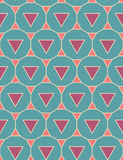 Vector modern seamless colorful geometry pattern triangle polygon, color blue purple pink abstract Royalty Free Stock Photos