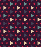 Vector modern seamless colorful geometry pattern triangle polygon, color blue red abstract Royalty Free Stock Images