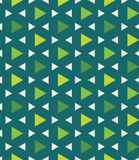 Vector modern seamless colorful geometry pattern triangle polygon, color green abstract Stock Photos