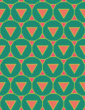 Vector modern seamless colorful geometry pattern triangle polygon, color green pink abstract Royalty Free Stock Images