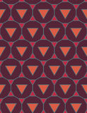 Vector modern seamless colorful geometry pattern triangle polygon, color purple orange abstract geometric background Royalty Free Stock Images