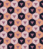 Vector modern seamless colorful geometry pattern triangle polygon, color purple pink abstract Stock Images