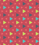 Vector modern seamless colorful geometry pattern triangle polygon, color red blue green abstract Royalty Free Stock Images
