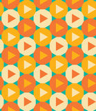 Vector modern seamless colorful geometry pattern triangle polygon Royalty Free Stock Photo