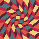 Vector modern seamless colorful geometry pattern trippy cubes, color abstract Royalty Free Stock Photo