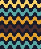 Vector modern seamless colorful geometry pattern, waved lines Royalty Free Stock Images