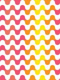 Vector modern seamless colorful geometry pattern, waved lines Royalty Free Stock Image