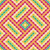 Vector modern seamless colorful geometry pattern wavy Royalty Free Stock Images