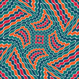 Vector modern seamless colorful geometry pattern weird, color abstract Stock Image