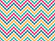 Vector modern seamless colorful geometry pattern zigzag line Stock Photography