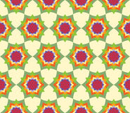 Vector modern seamless colorful geometry petal flower mandala pattern, color abstract Stock Photo