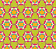 Vector modern seamless colorful geometry petal flower mandala pattern, color abstract Royalty Free Stock Photography