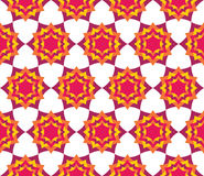 Vector modern seamless colorful geometry petal flower mandala pattern, color abstract Stock Images