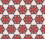 Vector modern seamless colorful geometry petal flower mandala pattern Stock Photography