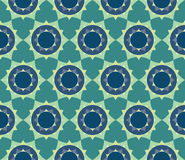 Vector modern seamless colorful geometry petal flower mandala pattern Stock Image