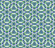 Vector modern seamless colorful geometry polygonal pattern Stock Photography