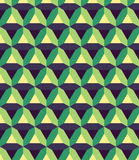Vector modern seamless colorful geometry prism pattern, color abstract Stock Photos