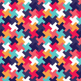 Vector modern seamless colorful geometry puzzle pattern, color abstract Royalty Free Stock Image