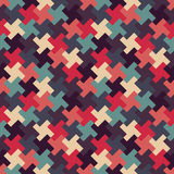Vector modern seamless colorful geometry puzzle pattern, color abstract Stock Photography