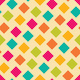 Vector modern seamless colorful geometry square pattern, color abstract Royalty Free Stock Photography