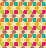 Vector modern seamless colorful geometry square pattern, color abstract Stock Image