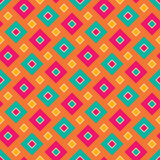 Vector modern seamless colorful geometry square pattern, color abstract Royalty Free Stock Images