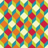 Vector modern seamless colorful geometry square pattern, color abstract vector illustration
