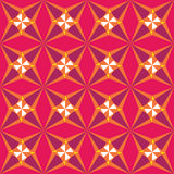 Vector modern seamless colorful geometry star pattern, color abstract Stock Photo