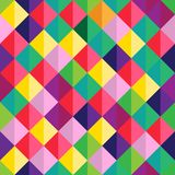 Vector modern seamless colorful geometry triangle pattern, color abstract geometric background, pillow multicolored print, retro stock illustration