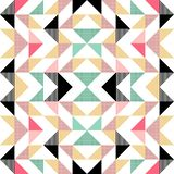 Vector modern seamless colorful geometry triangle pattern, color abstract geometric background, pillow multicolored print, retro. Texture, hipster fashion royalty free illustration