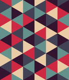 Vector modern seamless colorful geometry triangle pattern, color abstract. Geometric background, pillow multicolored print, retro texture, hipster fashion Royalty Free Stock Photography
