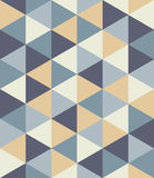 Vector modern seamless colorful geometry triangle pattern, color abstract Royalty Free Stock Photo