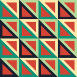 Vector modern seamless colorful geometry triangle pattern, color blue red abstract. Geometric background, trendy multicolored print, retro texture, hipster Royalty Free Stock Photography